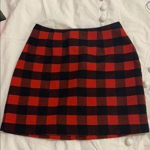 Buffalo Check Lined Mini Skirt